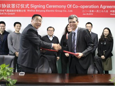 Signature of cooperation agreement between ADDI-DATA GmbH and Beiyang Group