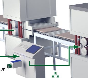 Increasing the productivity of a flake board production facility